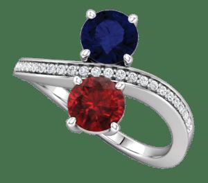 Valeria Custom Jewelry | Accented 2 Stone Ring. custom ring