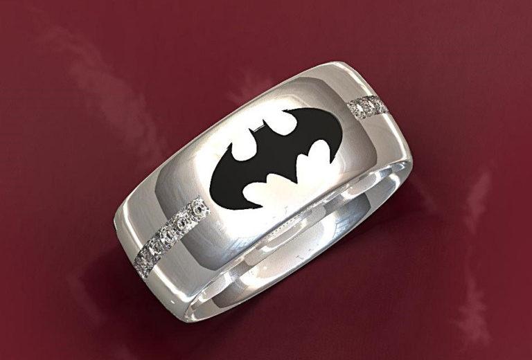 Diamond Batman Ring