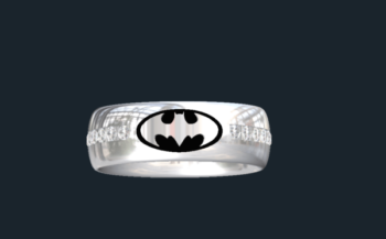Diamond Batman Wedding Ring