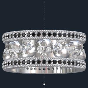 Men's Skull Wedding Ring