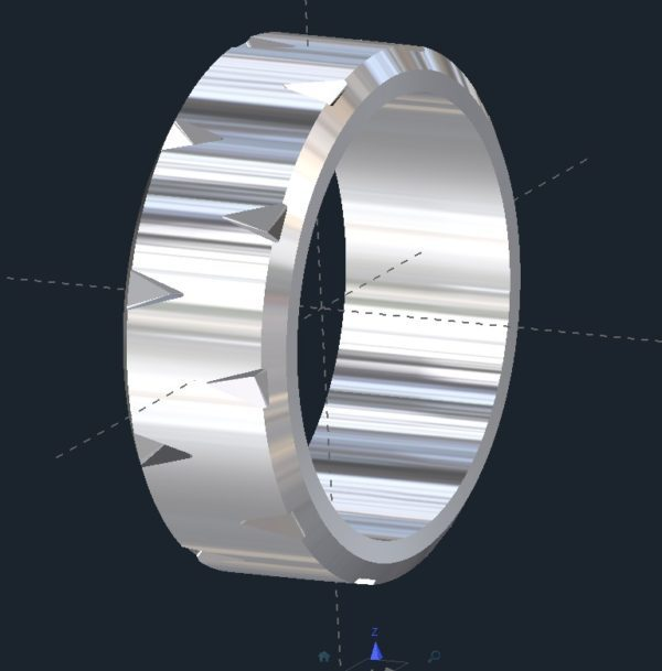 Grooved Mens Wedding Ring