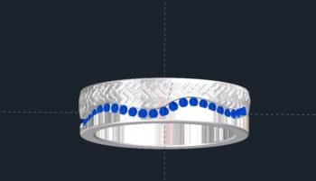 Sapphire Men's Wedding Ring