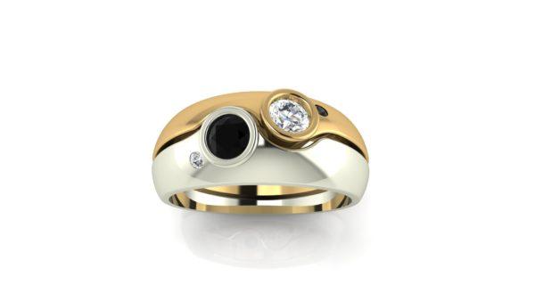 2 tone wedding ring