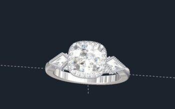 Antique 3 Stone Engagement Ring