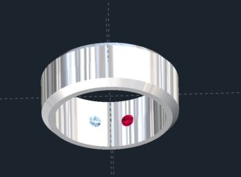 Peek a Boo Gemstone Wedding Rings