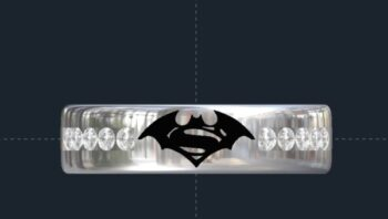Batman Superman Wedding Ring