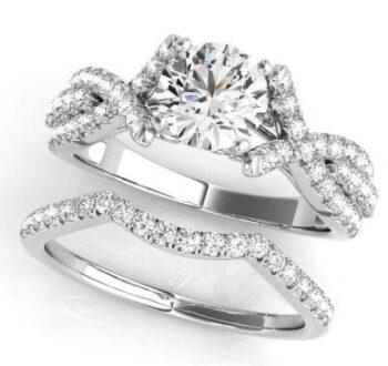 Crossover Split Shank Engagement Ring