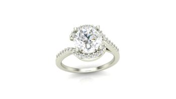 Semi-Halo Engagement Ring