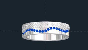 Men's Sapphire Wedding Ring