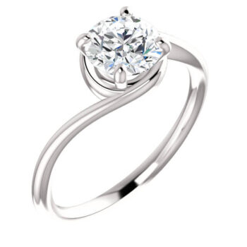 Custom Vintage Solitaire Engagement Rings