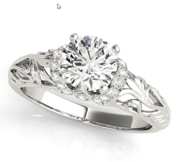 Art Deco Halo Engagement Ring