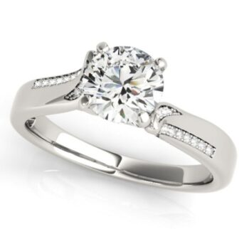 Asymmetrical Diamond Engagement Ring