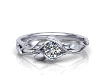 Custom Floral Engagement Rings