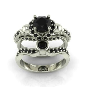 Gothic Skull Engagement Ring