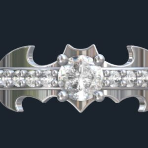 Custom Batman Engagement Rings