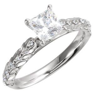 Sculptural Custom Engagement Ring