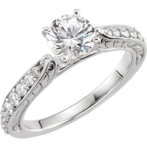 Custom Cathedral Engagement Rings