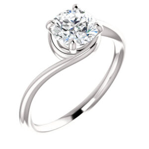 Bypass Solitaire Engagement Ring
