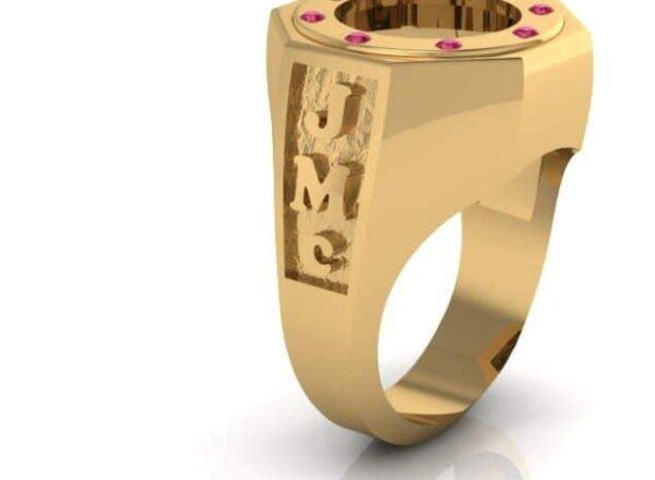 Custom Gold Coin Ring