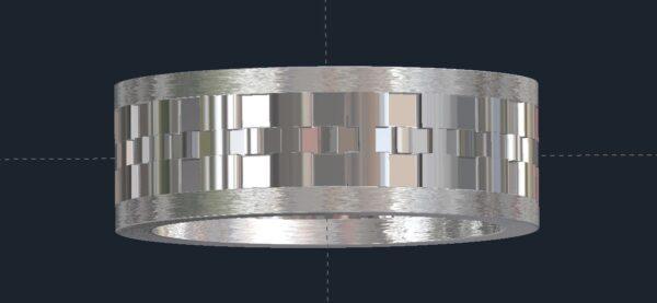 Watchband Men's Wedding Ring