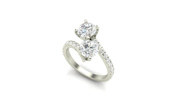 Accented 2 stone mother's ring