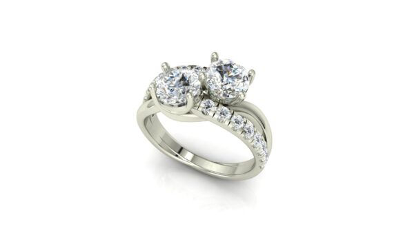 Bypass 2 Stone Engagement Ring