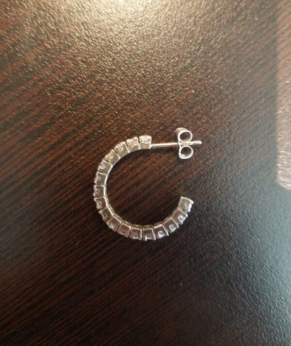 3/4 Carat Diamond Hoop Earrings