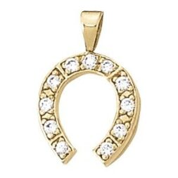 Diamond Horseshoe Pendant