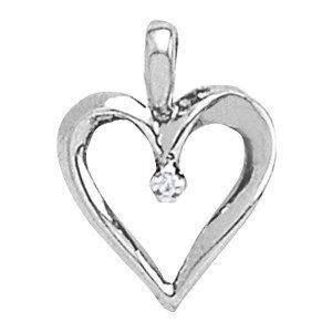 Sculptural Diamond Heart Necklace