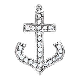 Diamond Anchor Pendant