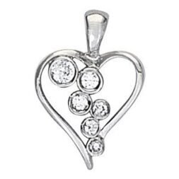 Waterfall Diamond Heart Necklace