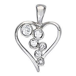 Waterfall Diamond Heart Necklace