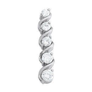 Scrolled Diamond Journey Pendant