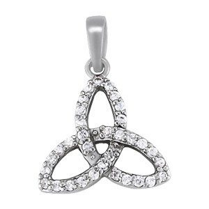 Trinity Knot Diamond Necklace