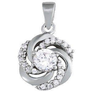 Pinwheel Diamond Cluster Pendants