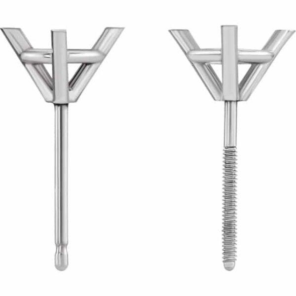 Martini Stud Diamond Earrings