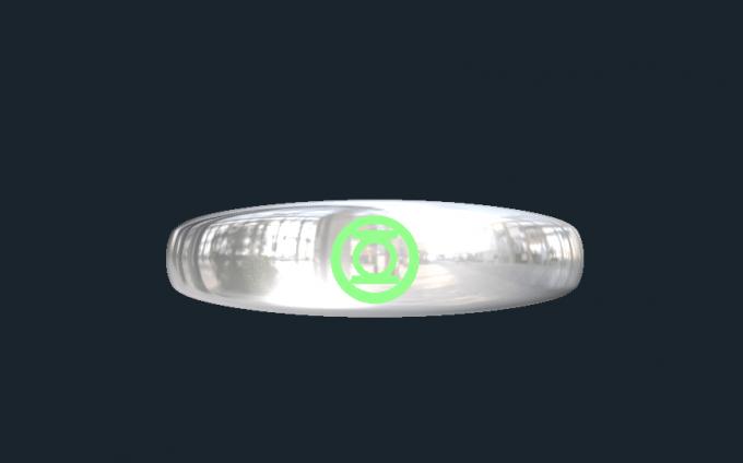 Green Lantern Wedding Rings