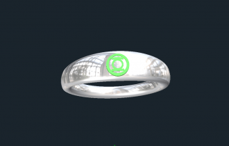 Green Lantern Wedding Rings