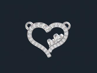 Custom Diamond Heart Pendant