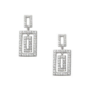 Triple Rectangle Earrings