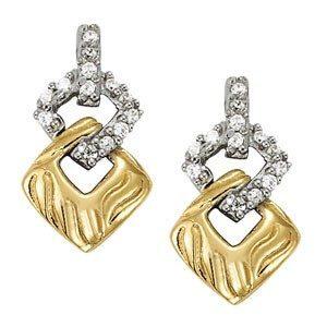 Custom 2 Tone Diamond Earrings