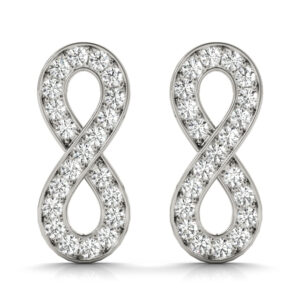 Custom Diamond Infinity Earrings