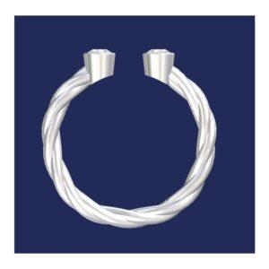 double bezel rope ring
