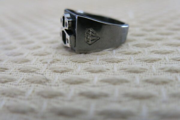 2 Tone Silver Signet Ring