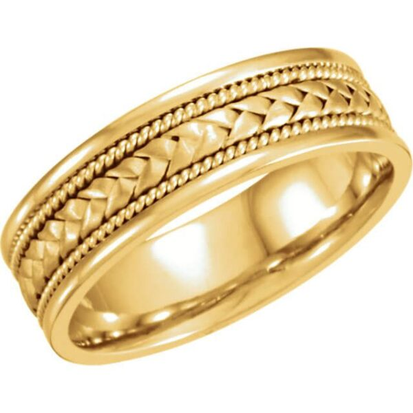Men's Braided Wedding Ring