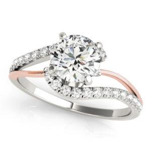 2 Tone Split Shank Engagement Ring