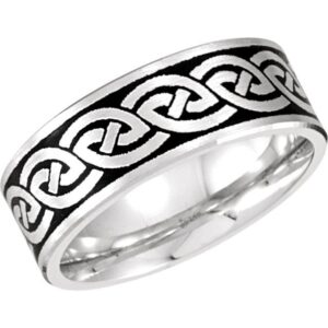 Enameled Celtic Wedding Ring