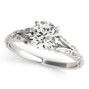 Heart Cathedral Engagement Ring