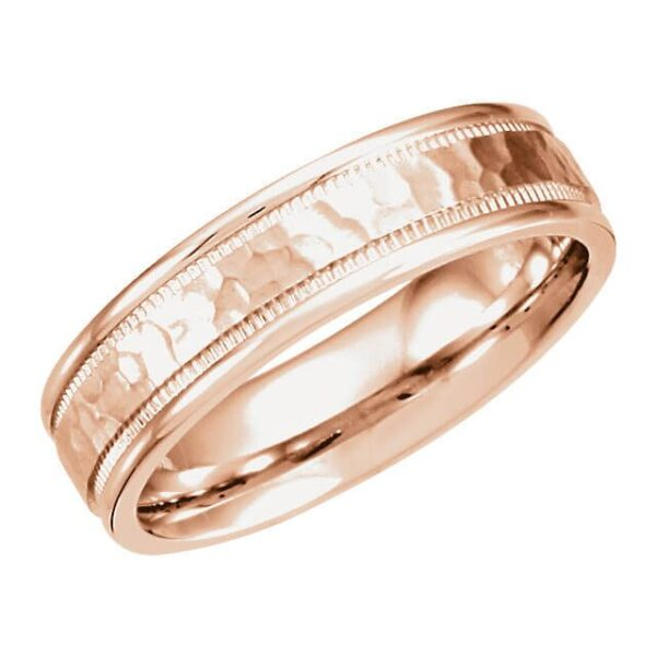 Men's Hammered Wedding Ring