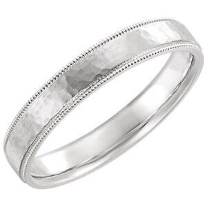 Textured Milgrain Wedding Ring